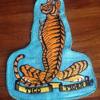 Vintage USS Ticonderoga Tico Tiger Japanese Made Patch - Military and Wartime