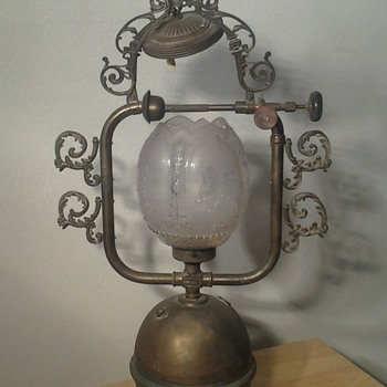 Vintage Electrified Hanging Gas Lamp acquired from David Geffen Records - Lamps