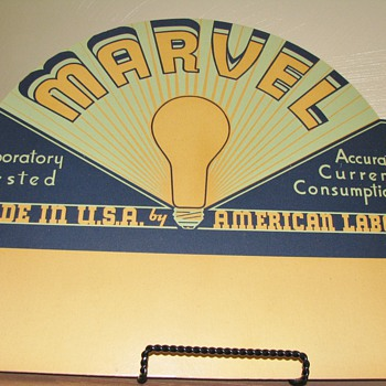 Marvel Light Bulb cardboard display sign - Signs