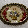Bohemian Brooch Intaglio on Mother Of Pearl