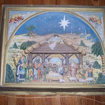 1954 nativity plaque