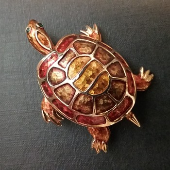 Boucher turtle brooch  - Animals