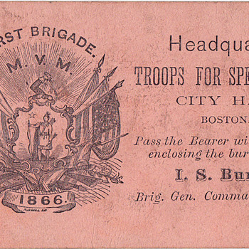 Boston Fire of 1872 soldiers pass - Military and Wartime