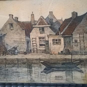 Original Sketch By Belgian Artist Louis Leclercq - Fine Art