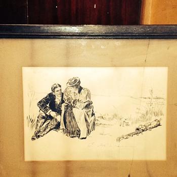 Man Ana lady - Fine Art