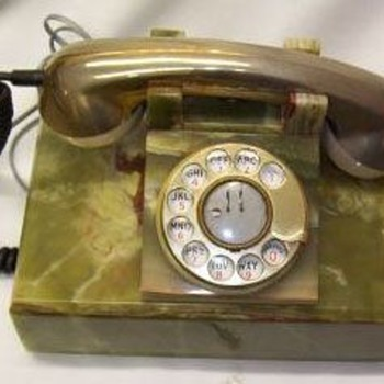 Marble Telephones From Italy - Telephones