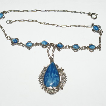 Vintage Glass Necklace - Costume Jewelry
