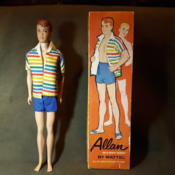 Mattel Allan Doll Ken's Friend From the Barbie Series 1964 - Dolls