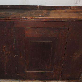 Signed & Dated Early Pennsylvania Painted Cabinet