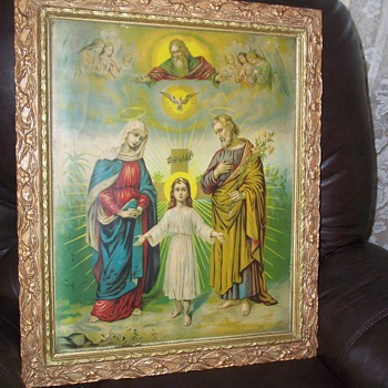 Antique print of the Holy Family