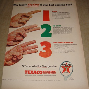 "Texaco Sky Chief ""1, 2, 3"" Magazine Ad"