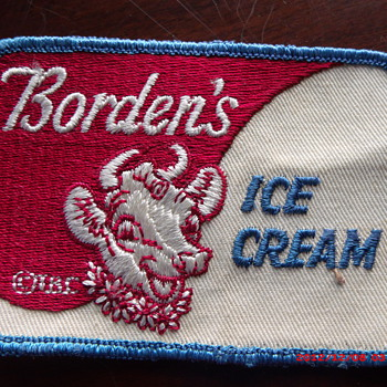 Borden's Dairy Ice Cream advertising or employee patch  - Advertising