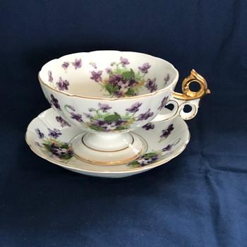 Saji Fancy China Made in Japan oversized teacup - Asian