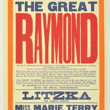 "The Great Raymond Original 1924 ""A Trip to Spookville"" Broadside"