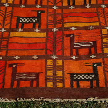 Native American Rug   Identity unknown???? - Native American