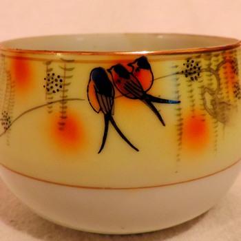 Okura Art China? or Seto? Hand painted china cup - Asian