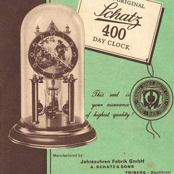 Schatz Standard 400 Day Clock Instructions, 1950s