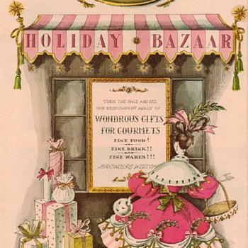 "1954 - Gourmet Magazine ""Holiday Bazaar"" Advertisements - Advertising"