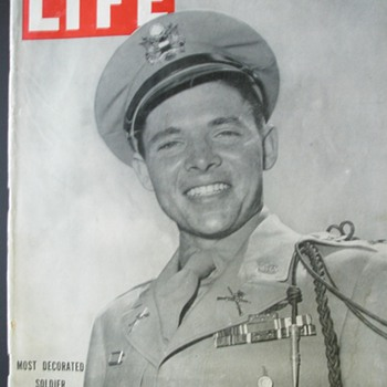 The Most Decorated Combat Soldier**** Life Magazine July 16, 1945 - Military and Wartime