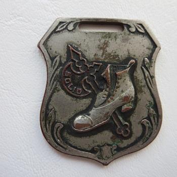 1909 Battle Axe Shoe Co. Pocket Watch Fob