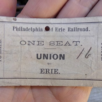 Civil War Train Ticket - Railroadiana