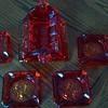 Amberina ashtray set