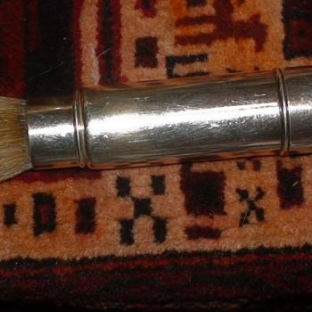 Gorman Art Deco Sterling Silver Monogrammed Shaving Brush Natural Bristles - Accessories