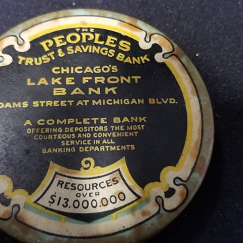 People's trust and savings bank Chicago  - Coin Operated