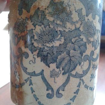 Blue transferware mug