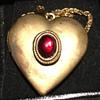 Red Stone Heart Locket