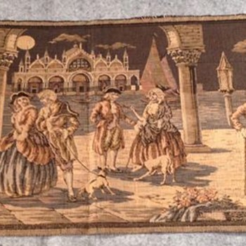TAPESTRY  MADE IN ITALY  1800's SCENE - Rugs and Textiles
