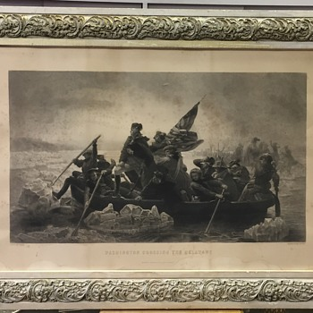 Washington Crossing the Delaware Engraving by Paul Girardet - Posters and Prints