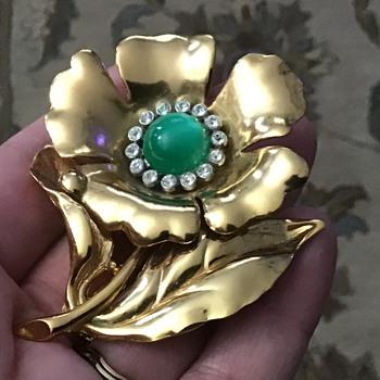 Vintage Coro Flower - Costume Jewelry