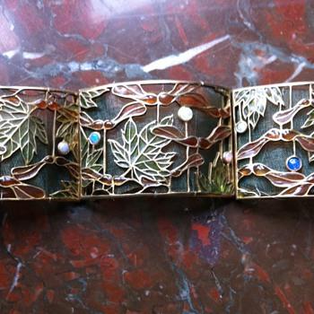 Art nouveau plique a jour choker, Janvier Quercia. - Fine Jewelry