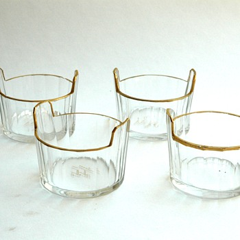 set of 4 miniature salts  by DAUM NANCY - Art Glass