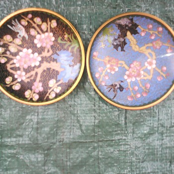 My cloisonne pin dishes - Asian