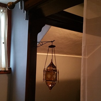 Moroccan hanging brass lantern  - Lamps