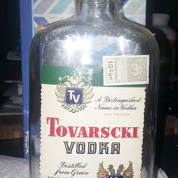 Tovarscki Vodka Liquor Bottle - Bottles