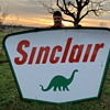 1959 Sinclair Sign double sided porcelain sign