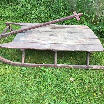 vintage wooden sled (?)