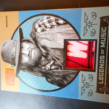 Willie Nelson Bandana Swatch Card  - Music Memorabilia