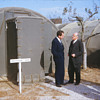 Nixon in Korea around the armistice time ( maybe Japan ? )