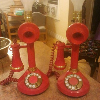 Candlestick telephone lamp