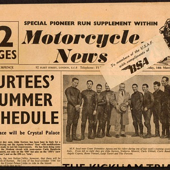 1956 - Motorcycle News - Periodical - Paper