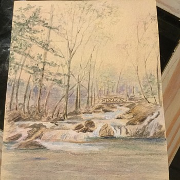 "Watercolor ""old music"" of a brook at sleepy hollow - Fine Art"