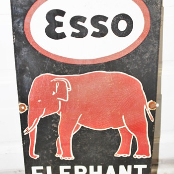 Early Esso Kerosene Sign From India. My Mom Brought it back for me - Signs