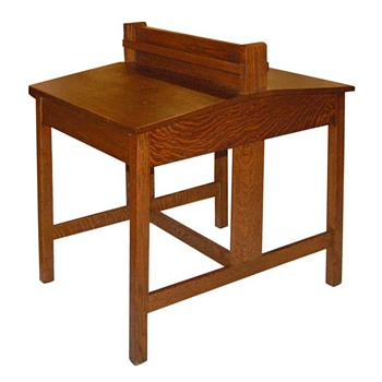 Circa 1910 Stickley Oak Partners Desk - Furniture