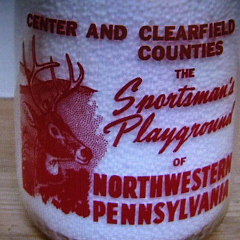 "Purity Milk Co. (Philipsburg, Pa.) ""SPORTSMAN'S PLAYGROUND"" picture....... - Bottles"