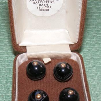 "Agate Pinshank Waistcoat Buttons - 7/16"" - Sewing"