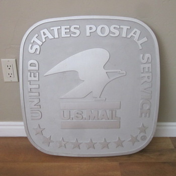 USPS Cast Aluminum Building Sign - Office